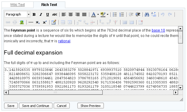 Wiki Rich Editor - Acunote Blog